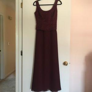 Michaelangelo Beaded Burgundy Formal Dress
